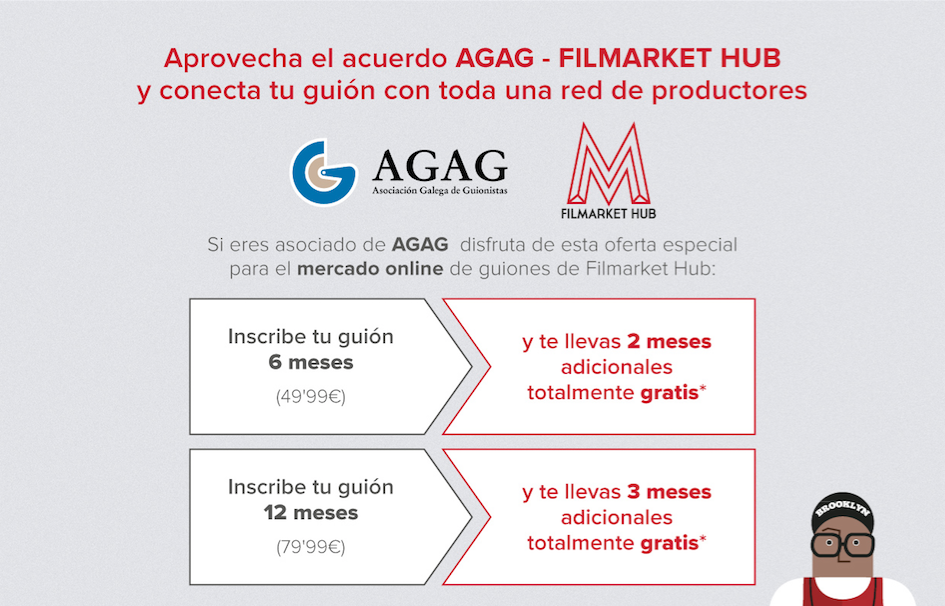 A AGAG asina un acordo con Filmarket Hub